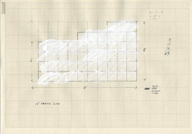 Sarah Hughes - Pencil and emulsion on graph paper, 2012